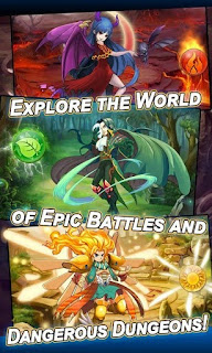Screenshots of the Heroes & Monsters for Android tablet, phone.