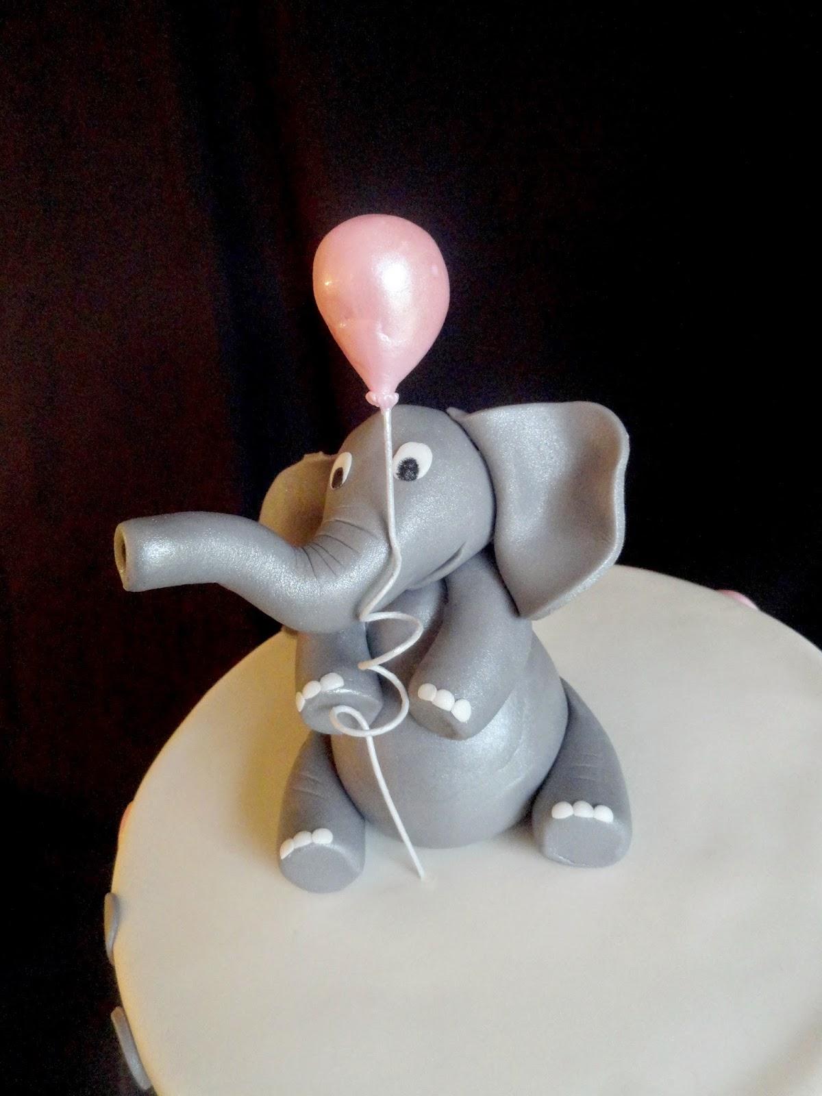 Pink Little Cake Elephant Theme Baby Shower Cake