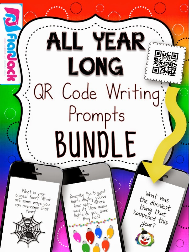 http://www.teacherspayteachers.com/Product/All-Year-Long-QR-Code-Writing-Prompts-Bundle-1348083
