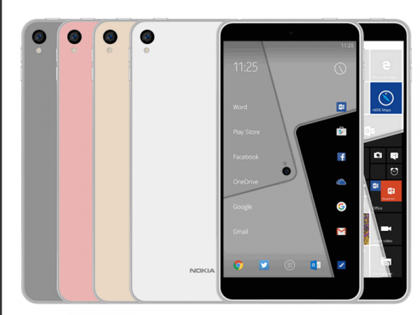 Nokia C1 Running Android or Windows – Render Images