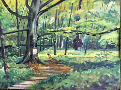 Video of a Woodland painting