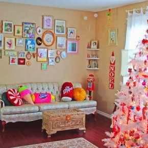 Colorful christmas decor for your home walls