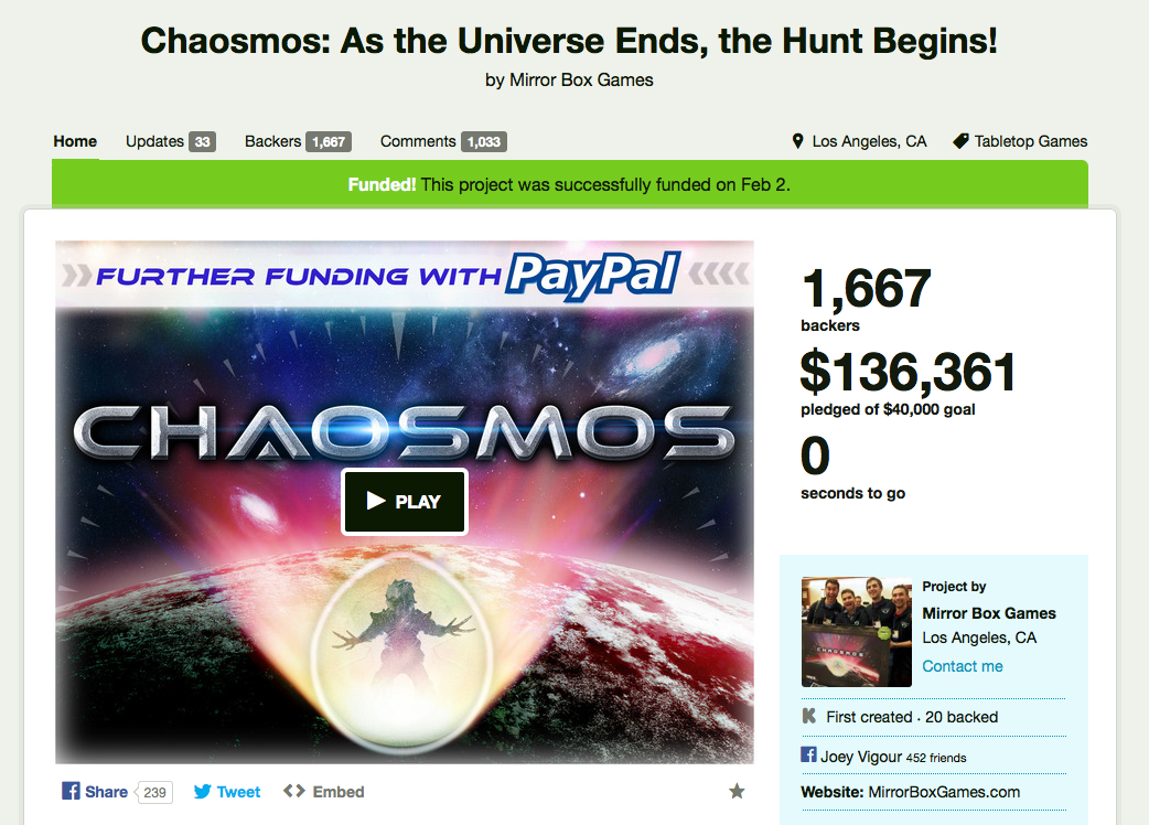 https://www.kickstarter.com/projects/ecc/chaosmos-as-the-universe-ends-the-hunt-begins?ref=live