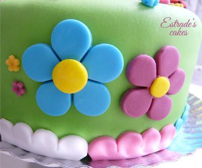 tarta de fondant de niña - 3