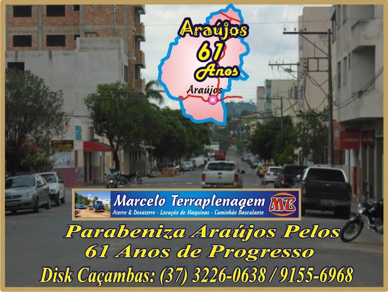 Marcelo Terraplenagem Caçambas Parabeniza Araújos Pelos 61 Anos