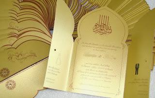 Carte d invitation mariage orientale