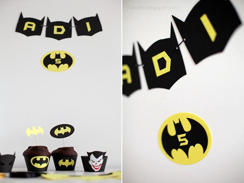 cupcake batman, petreceri personalizate, ghirlanda batman