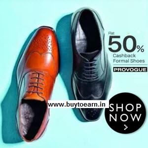 Buy Provogue Shoes Extra upto 50% cashback