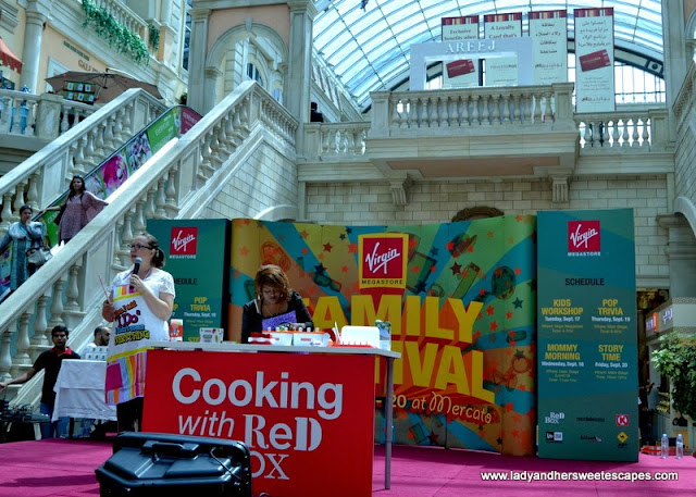 Cooking with Red Box at Virgin Megastore's Family Festival in Mercato