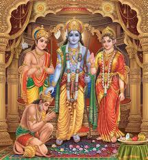 Rama blessing Hanuman