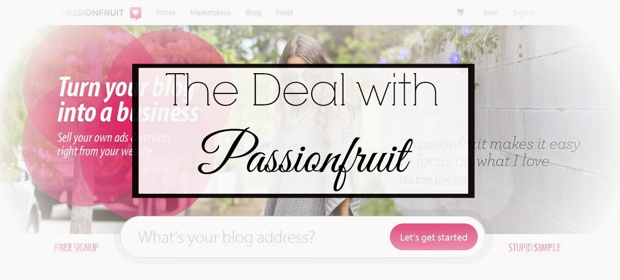 The problem with using Passionfruit ads for blog sponorships