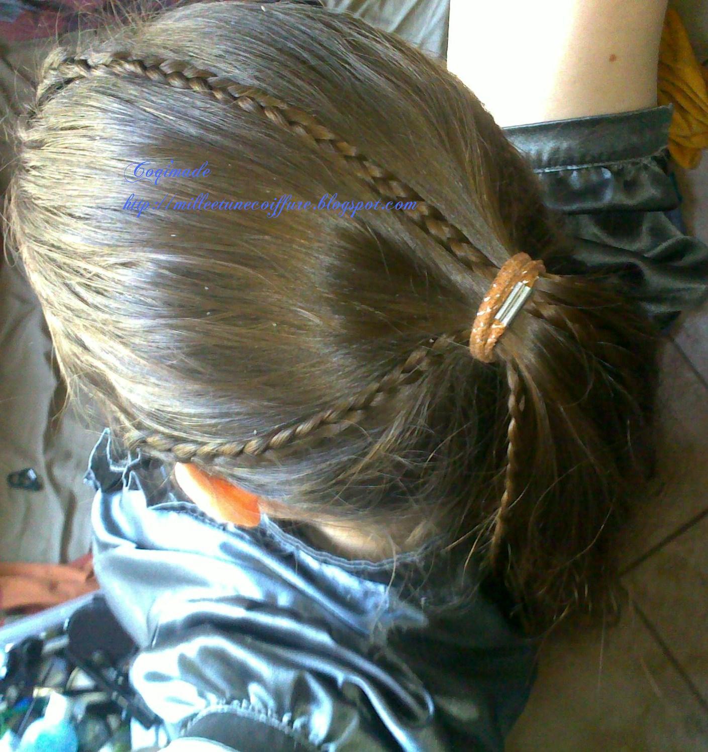 Tuto coiffure queue de cheval et tresse coiffure cheveux long extension cheveux - Tresse queue de cheval ...