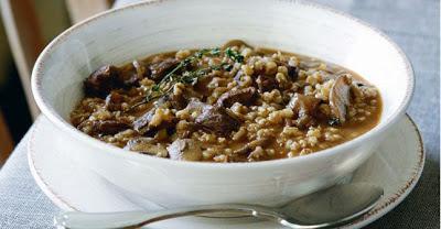 soupe originale au boeuf, champignons