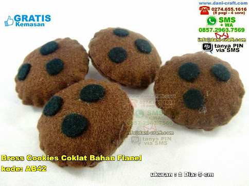 Bross Cookies Coklat Bahan Flanel Flanel