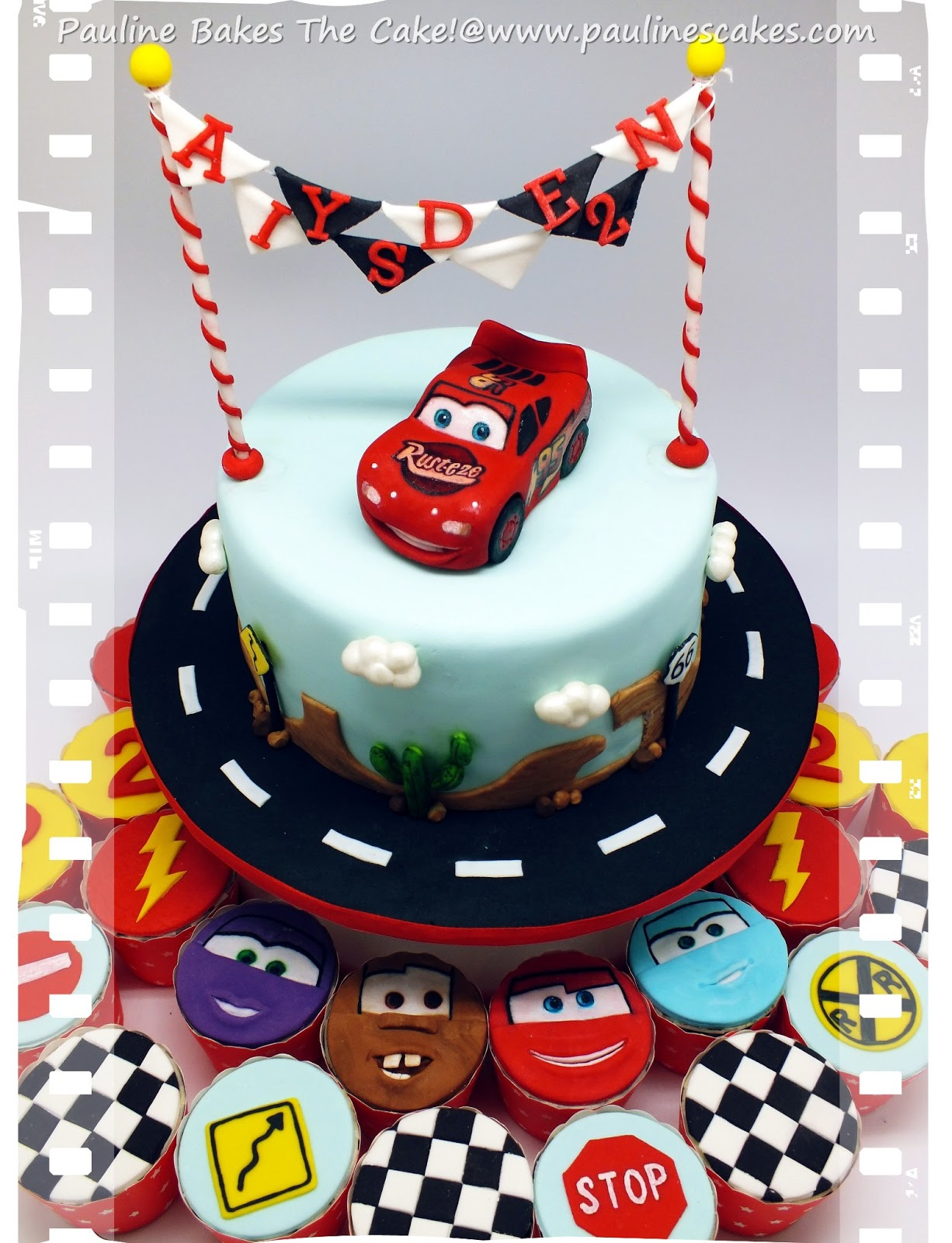 PAULINE BAKES THE CAKE Cars Lightning McQueen