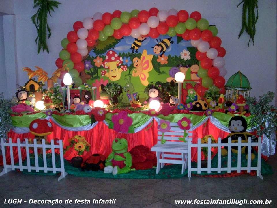 enfeites para festa infantil tema jardim : enfeites para festa infantil tema jardim:Tema Jardim Encantado para decoração de festa infantil