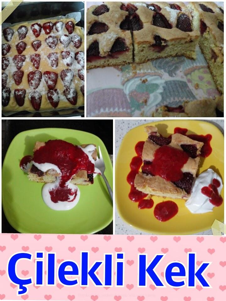 çilek, kek, krema, krem şanti, dondurma, pudra şekeri, enfes, nefis