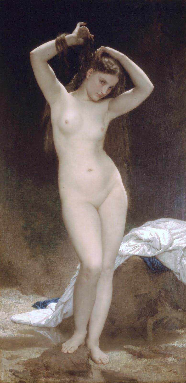 Baigneuse. 1870. óleo sobre tela - 190,5 x  95 cm