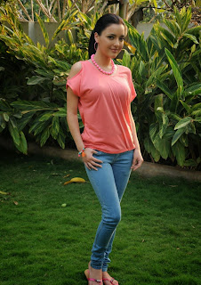 Australian Bollywood Actress Kristina Akheeva Picturet Gallery in Denim Jeans  15.JPG
