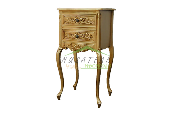 Bukittinggi French Bed Side Table - Nusa Teak