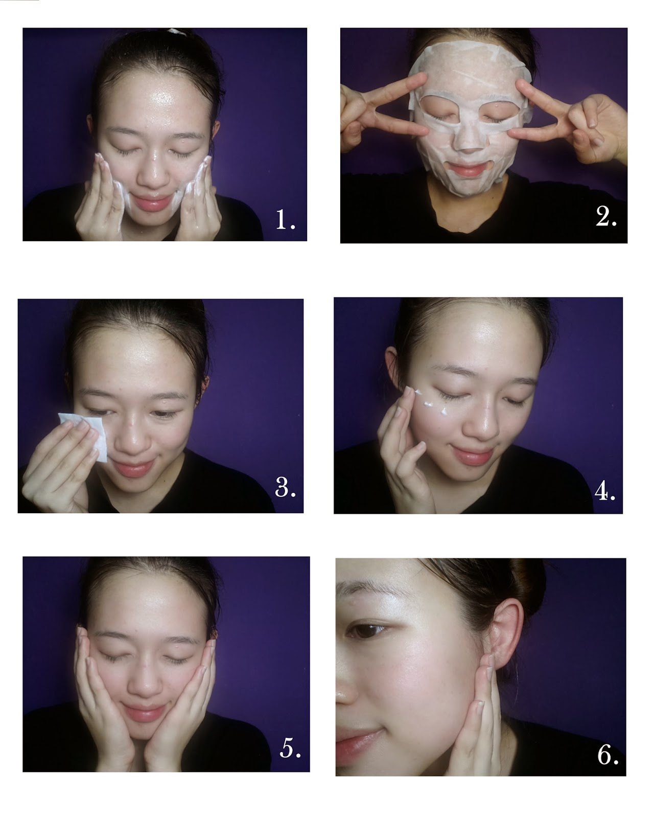 Put On A Moisturizing Mask For 15 To 20 Mins (hope This Pic Doesnt Scare  You!) 3 Apply Toner 4 Apply Moisturizer 5 Gentle Pad Your Face To Let  Them