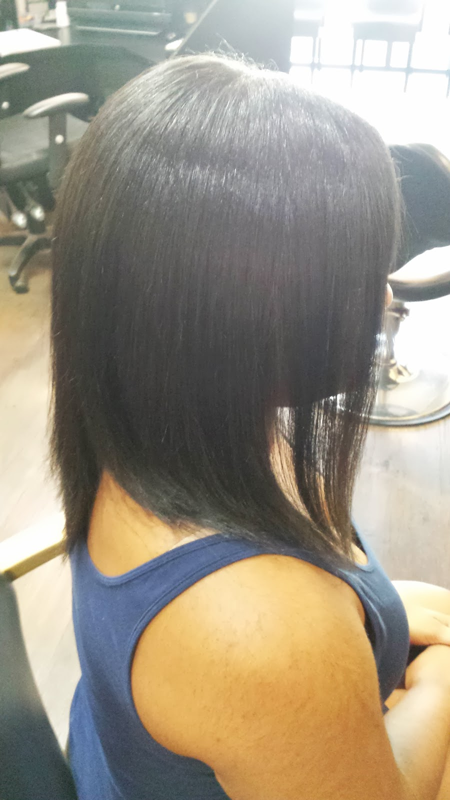 Short Inverted Bob Hairstyle Back View