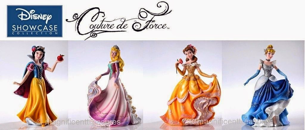 DISNEY SHOWCASE PRINCESS COUTURE DE FORCE FIGURINE COLLECTION DECOR 4PC SET NEW