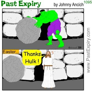 [CARTOON] Easter Cave. cartoon, Easter, Hulk, religion, spoof, superhero