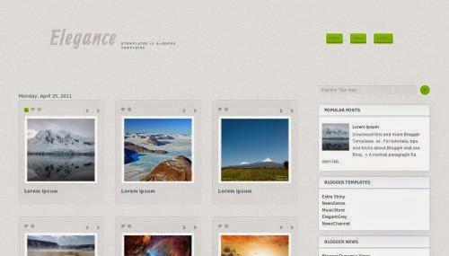 Elegance Gallery - Free Blogger Template
