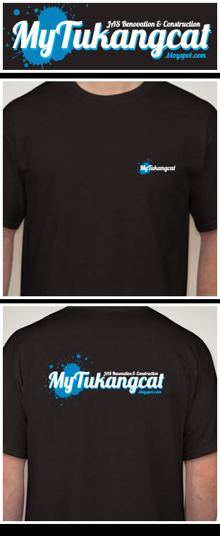 T Shirt pekerja Mytukangcat