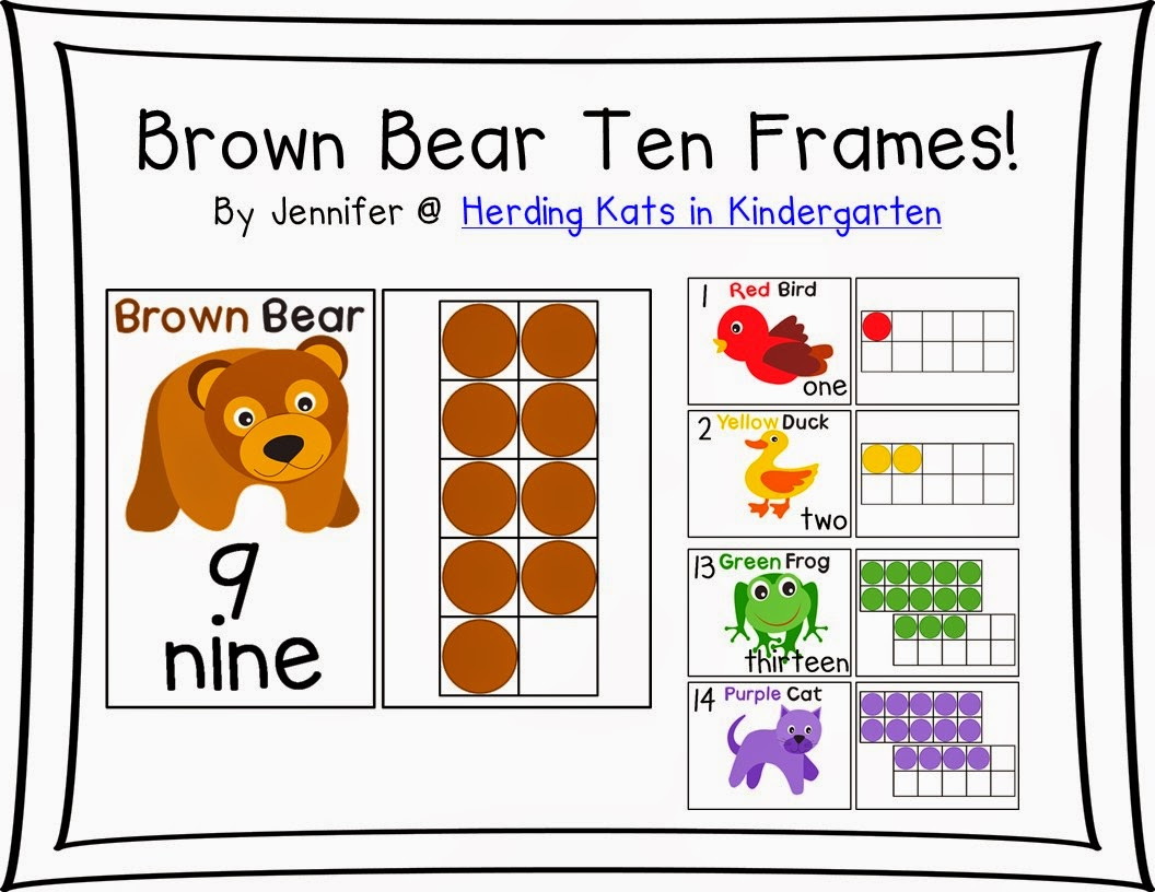 http://www.teacherspayteachers.com/Product/Brown-Bear-Ten-Frames-Posters-Workstation-Cards-and-Worksheets-1434552