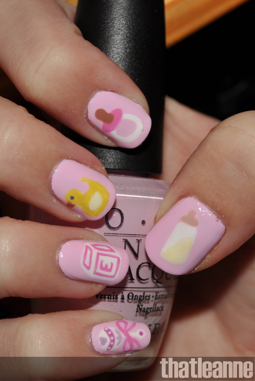 Baby Girl Nail Art and some new scented candles :-) - Baby Girl Nail Art And Some New Scented Candles :-) Easy Nail Art