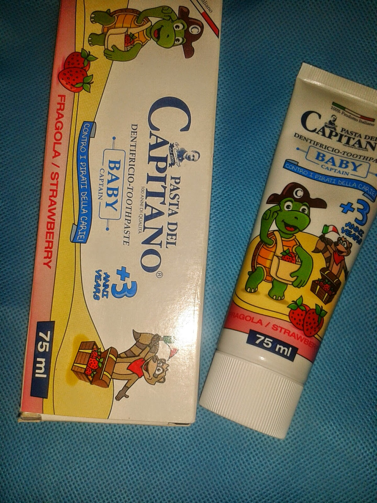 pasta del capitano : igiene dentale dei bambini