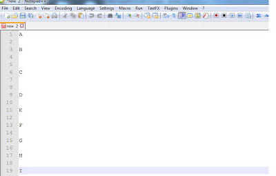 Removing Empty Lines in Notepad ++