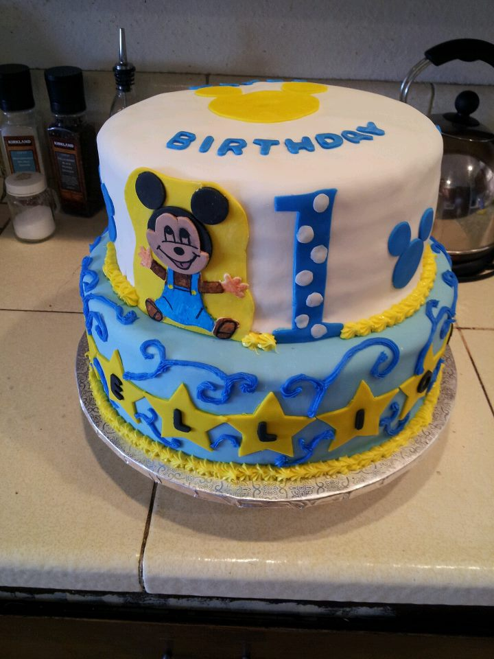 Desserts By Michelle Mickey Mouse 1st Birthday Cake