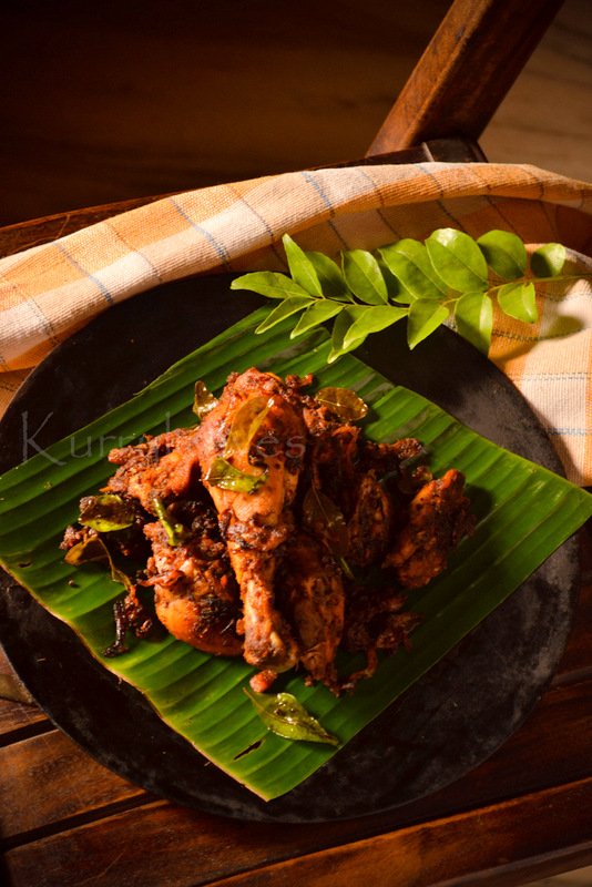 SPICY KERALA CHICKEN FRY | kurryleaves