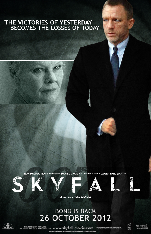 The teaser poster for the 23rd James Bond film SKYFALL was released worldwide today The first trailer for SKYFALL will be released here on 007com on