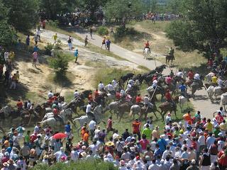 La Saca en las fiestas de San Juan en Soria
