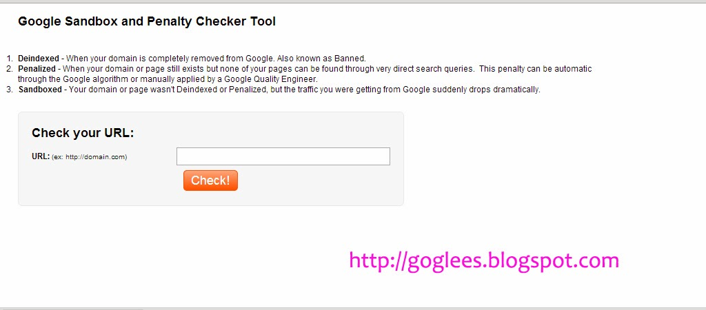 Google Sandbox and Penalty Checker Tool