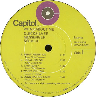Quicksilver Messenger Service What About Me CONCRETE ROCK: QUICKSI...