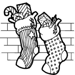 botas de natal - desenhos para colorir