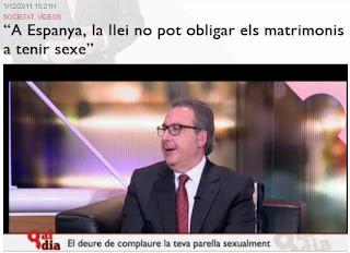 """colaboracion en """"8aldia de Josep Cuní"""" -pagar una multa de 10000 euros a su ex-mujer por no mantener relaciones sexuales –"""