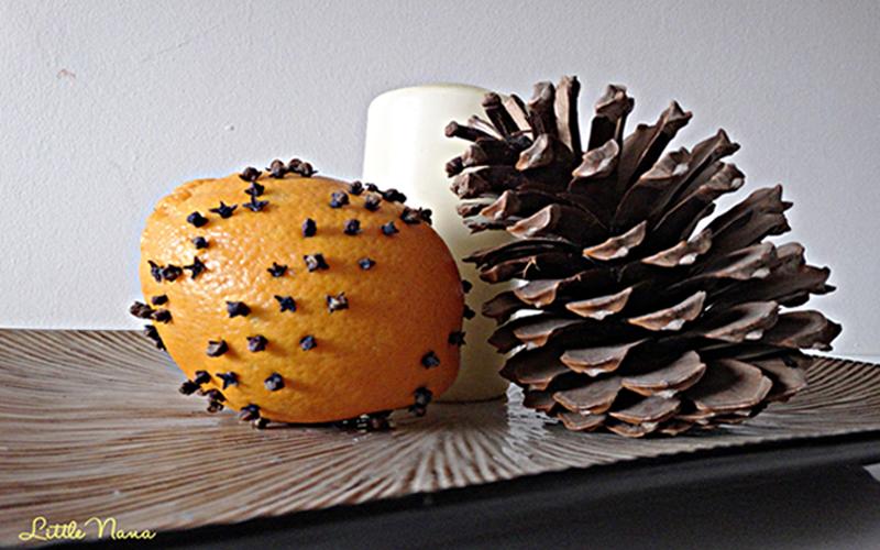 Ambientador natural naranja y clavo diy