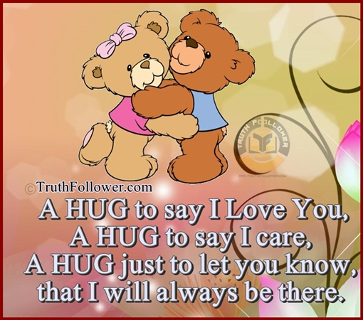 a hug to say i love and care you hug quotes picture