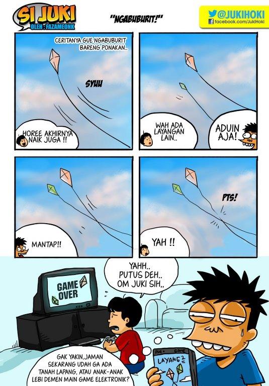 Gambar Lucu, cerita lucu, Komik si Juki
