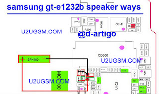 Samsung E1232B Speaker problem solution diagram