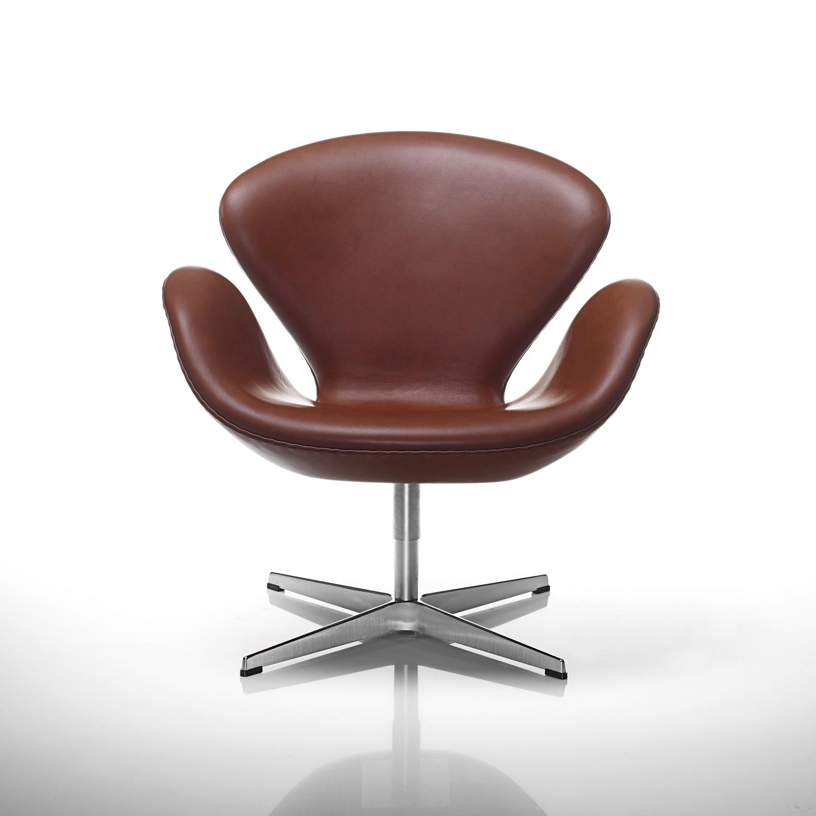 classic leather swan elegant chestnut brown arne jacobsen lounge chair. Black Bedroom Furniture Sets. Home Design Ideas