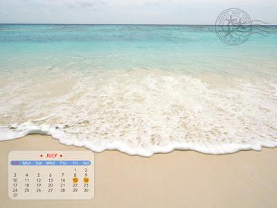 ปฏิทิน desktop (วอลล์เปเปอร์) เดือนกรกฎาคม 2554