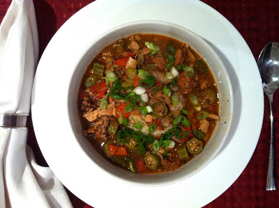 Chicken & Sausage Gumbo (no roux!) @ SouthernSpoon blog