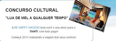 """Concurso Cultural: """"Lua De Mel A Qualquer Tempo"""""""